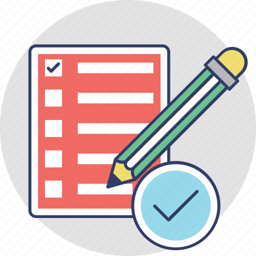 agenda list, agreement, jotter, notepad, report icon