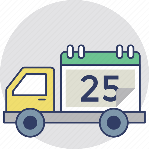 delivery agenda, delivery deadline, delivery schedule, shipping program, timed delivery icon