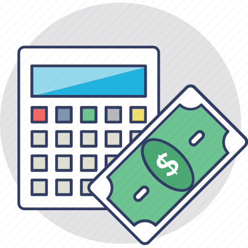 budget calculation cost expenditure money icon