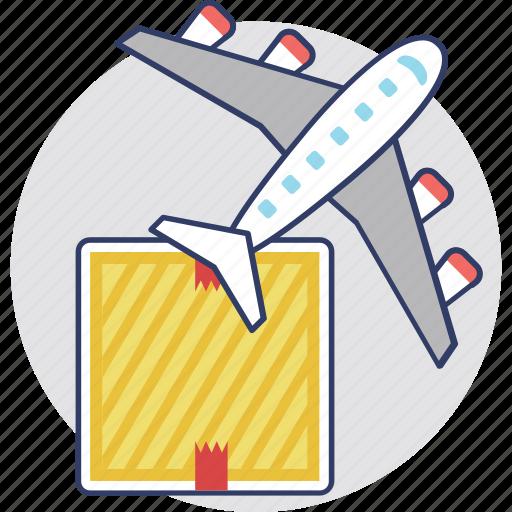 air delivery, air logistics, air ship, international freight, international logistics icon