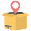 delivery location, delivery map, delivery point, location pointer, logistics point icon