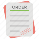 order summary, payslip, purchase order, purchase request, sales order icon