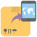 ecommerce, global logistic, mcommerce, online commerce, worldwide delivery icon