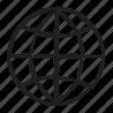 delivery, globe icon