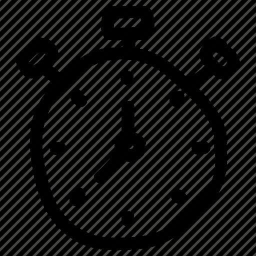 alarm, bell, clock, reminder, schedule, stopwatch, timer icon