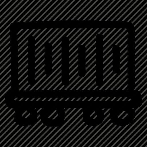 cart, mine, minecart, minetrolley, miningcart, trolley, wheelbarrow icon