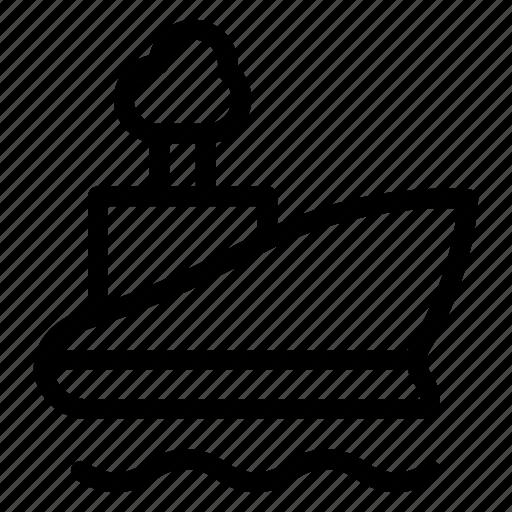boat, sea, ship, shipping, transport, transportation, travel icon