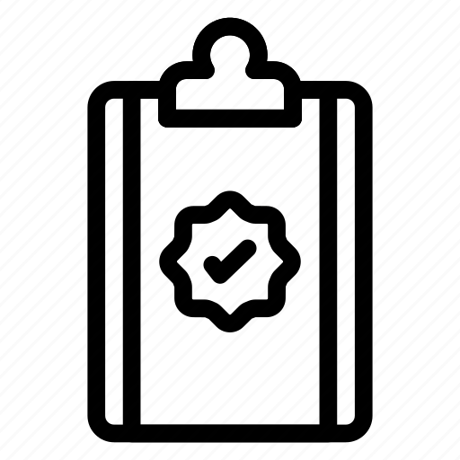 cheked, clipboard, document, notepad, office, report icon