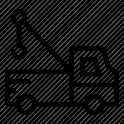 automobile, construction, crane, engineer, machine, transportation icon