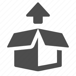 arrow, box, crate, package icon