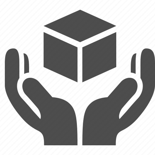 box, crate, fragile, handle with care, hands, logistics icon