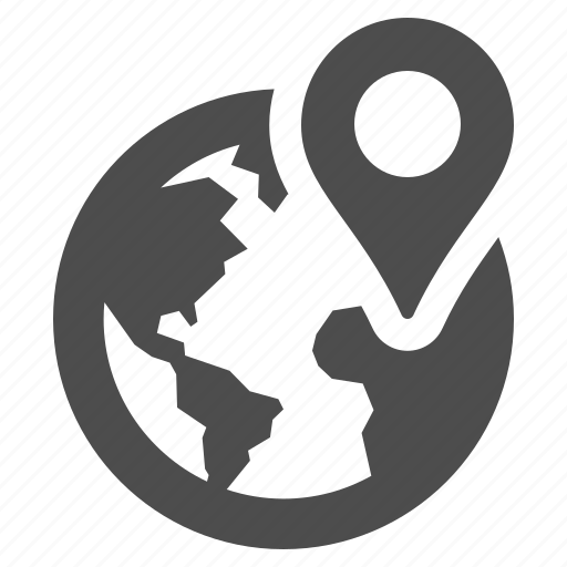 address earth globe gps location marker icon