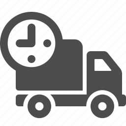 clock, delivery, fast, logistics, time, transportation, truck icon