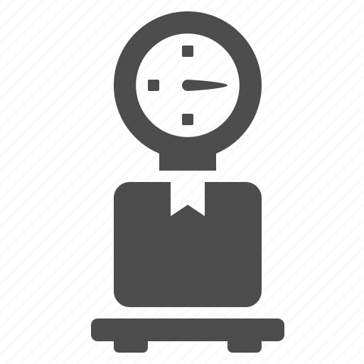 box, crate, weight scale icon