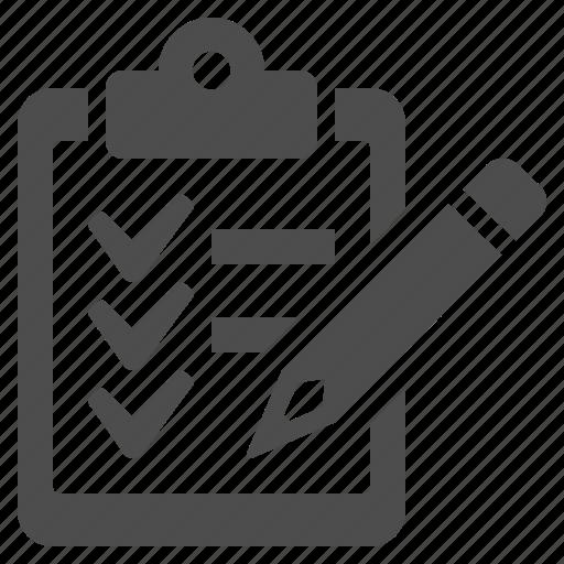 check list, clipboard, list, logistics, pencil icon