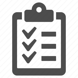 check list, clipboard, list icon