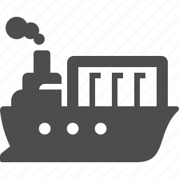 boat, cargo, container, delivery, ship, transportation icon