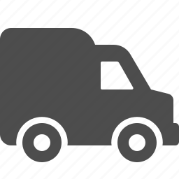car, courier, delivery, logistics, transportation, van, vehicle icon