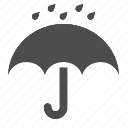 insurance, logistics, rain, rain drops, umbrella, weather icon