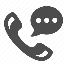 bubble, call center, call centre, chat, customer support, handle, phone icon