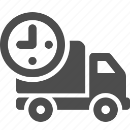 clock, deadline, delivery, transportation, truck icon