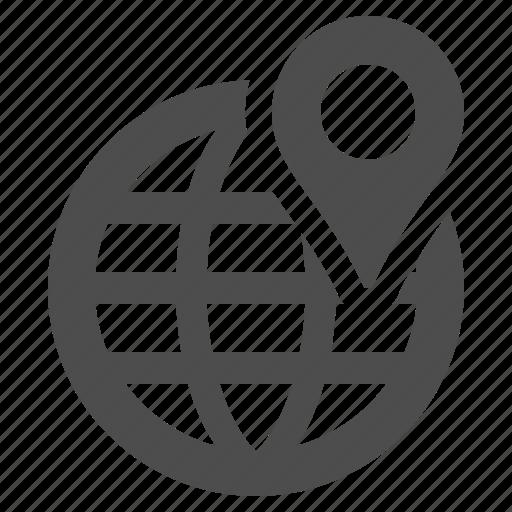 delivery, globe, gps, location, logistics, marker, planet icon