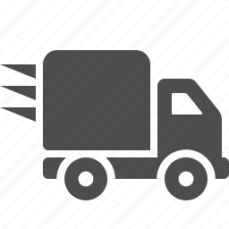 delivery, logistics, shipping, speed, transport, transportation, truck icon