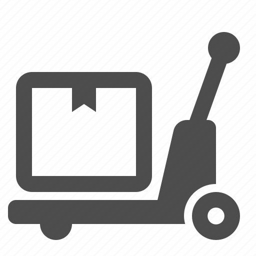 box, crate, delivery, pallet truck, transport, transportation icon