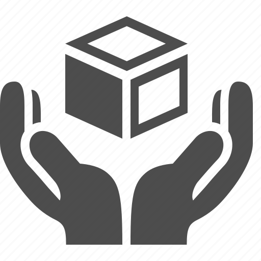 box, crate, delivery, fragile, hands, logistics, shipping icon