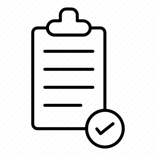 clipboard, document, graphic, list, office, paper, report icon