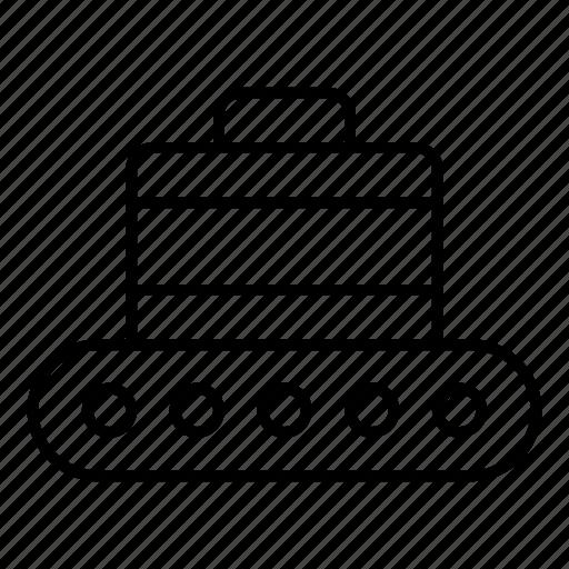 bag, box, crane, equipment, luggauage, machinery, package icon