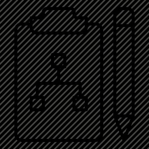 clipboard, document, doument, draw, edit, pencil, write icon