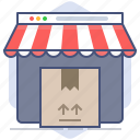 delivery, logistics, packet, shipping, shop, shopping, store icon