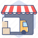 car, courier, delivery, logistics, packet, shipping, shop icon