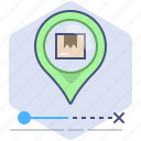 delivery, location, logistics, packet, pin, shipping, tracking icon