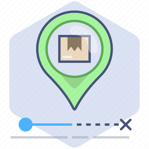Delivery, location, logistics, packet, pin, shipping, tracking icon - Download on Iconfinder