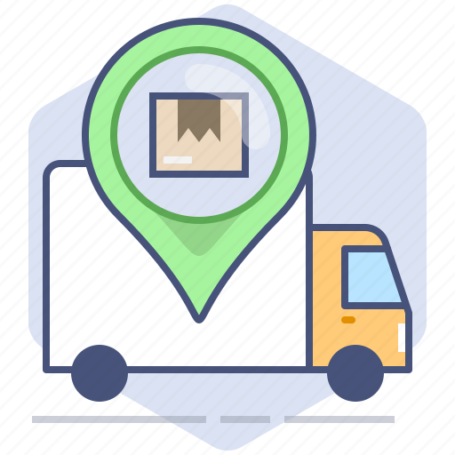 Car, courier, delivery, location, logistics, pin, tracking icon - Download on Iconfinder