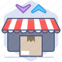 change, delivery, logistics, packet, shipping, shop, shopping icon