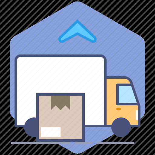 Car, courier, delivery, logistics, packet, parcel, unload icon - Download on Iconfinder
