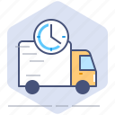 car, clock, courier, delivery, logistics, speed, time icon