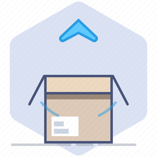 Box, delivery, logistics, open, package, packet, unpacking icon - Download on Iconfinder