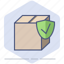 delivery, guard, logistics, ok, packet, protection, safe icon