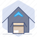 delivery, house, loading, logistics, open, packet, shipping icon