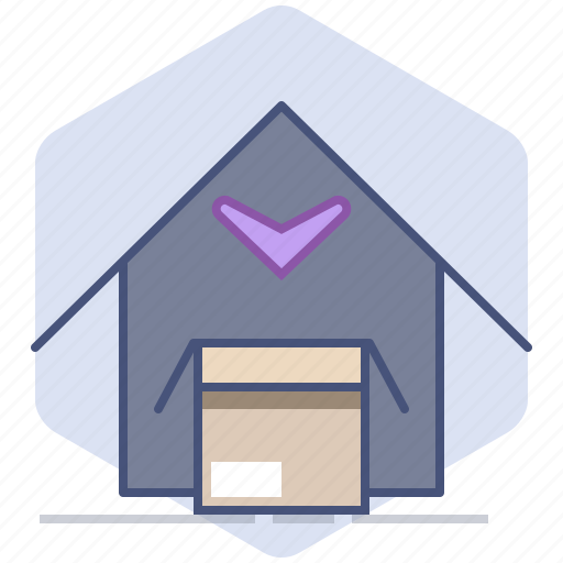 Close, delivery, house, logistics, packet, return icon - Download on Iconfinder