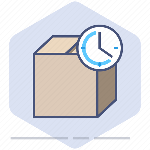 Clock, delivery, logistics, package, packet, speed, time icon - Download on Iconfinder