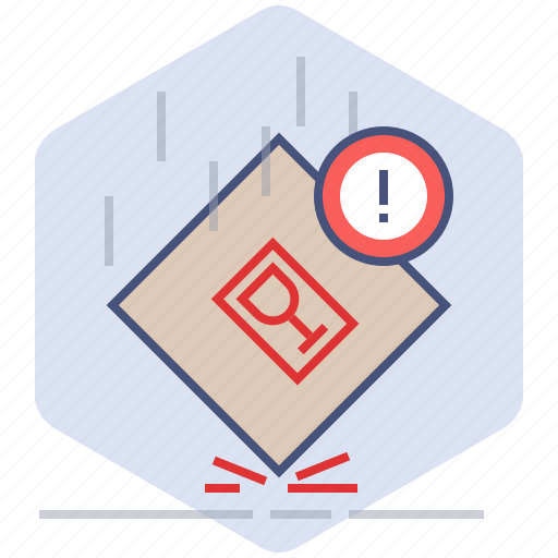 Caution, fall, fragile, logistics, packet, shipping, warning icon - Download on Iconfinder
