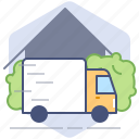 car, courier, delivery, logistics, parcel, shipping, truck icon