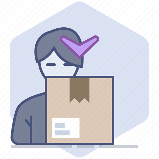 Customer, delivery, logistics, package, packet, shipping, unpacking icon - Download on Iconfinder
