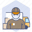 car, courier, delivery, logistics, packet, parcel, shipping icon