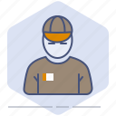 avatar, courier, delivery, logistics, man, person, shipping icon